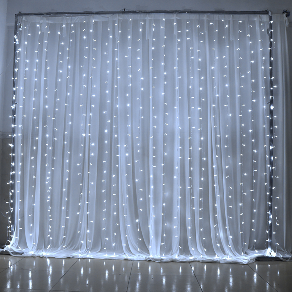 9.8ft X 9.8ft 300 LED 8 Modes LED Curtain Icicle Lights Christmas Party  Holiday Garden Decoration String Light Free Shipping
