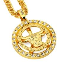 Здесь можно купить   Chicago Bulls Necklace Hip Hop Men Jewelry Cool Gift Gold Plated Chain Big Pendant Necklaces 2016 Fashion Mens jewellery Collier Fashion Jewelry