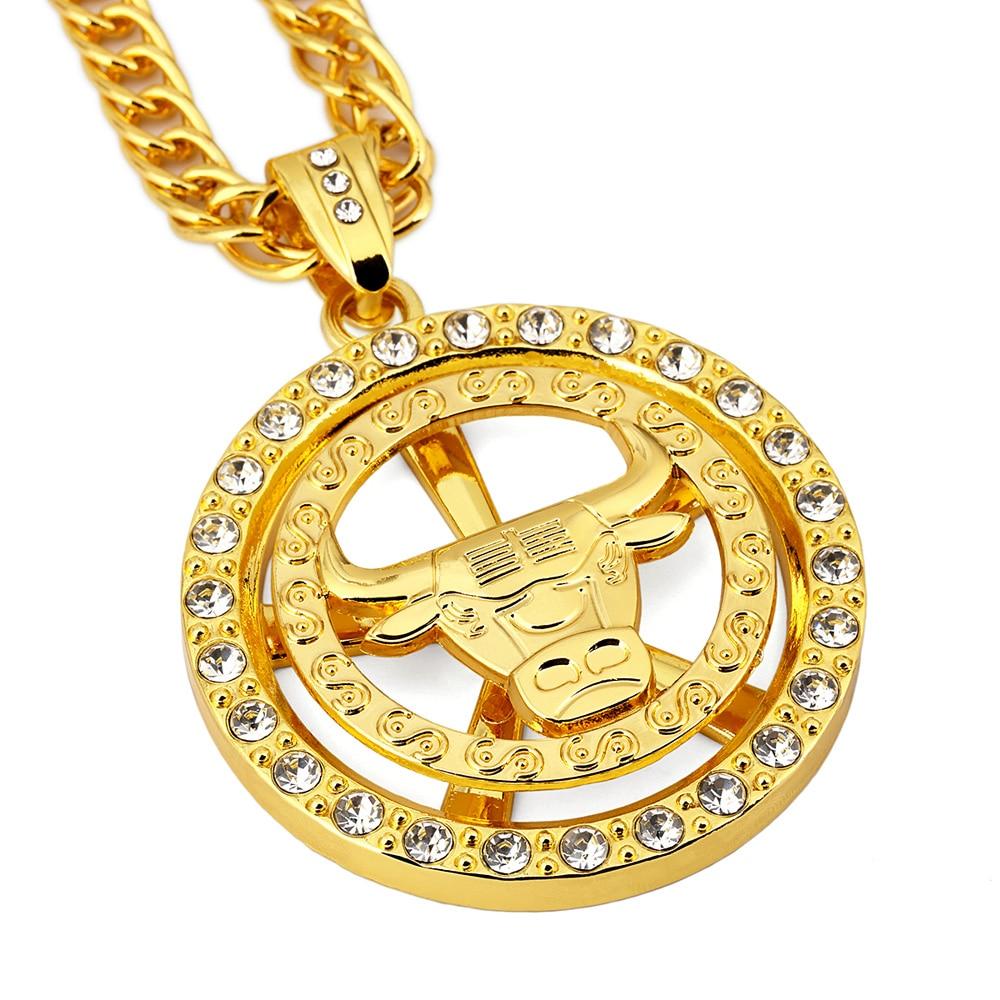 Chicago Bulls Necklace Hip Hop Men Jewels