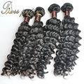 4 шт. росс довольно 7A наращивание волос глубокая волна бразильский девственные волосы переплетения умеренная цена качество натуральный бразильский уток волос
