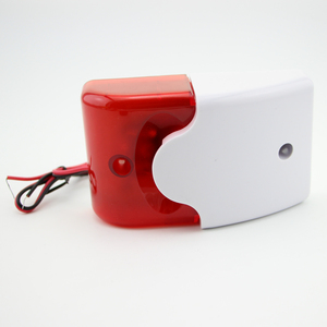 Image 4 - Free Shipping!9 12V Mini Indoor Wired Siren with Red light Siren Flash Sound Home Security Alarm Strobe System 110dB Hot Sale