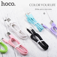 HOCO Micro-USB Original Charging Data Cable USB Charger Wire Data Transfer Sync Android Mobile Phones Charger For Xiaomi Samsung