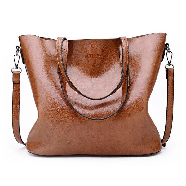 ACELURE Vintage Women Shoulder Bag Female Causal Totes for Daily Shopping All-Purpose High Quality Ladies Handbag bolsa feminina