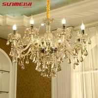 Lustre de cristal moderna sala estar lustres decoração pingentes e lustres iluminação para casa lâmpada interior