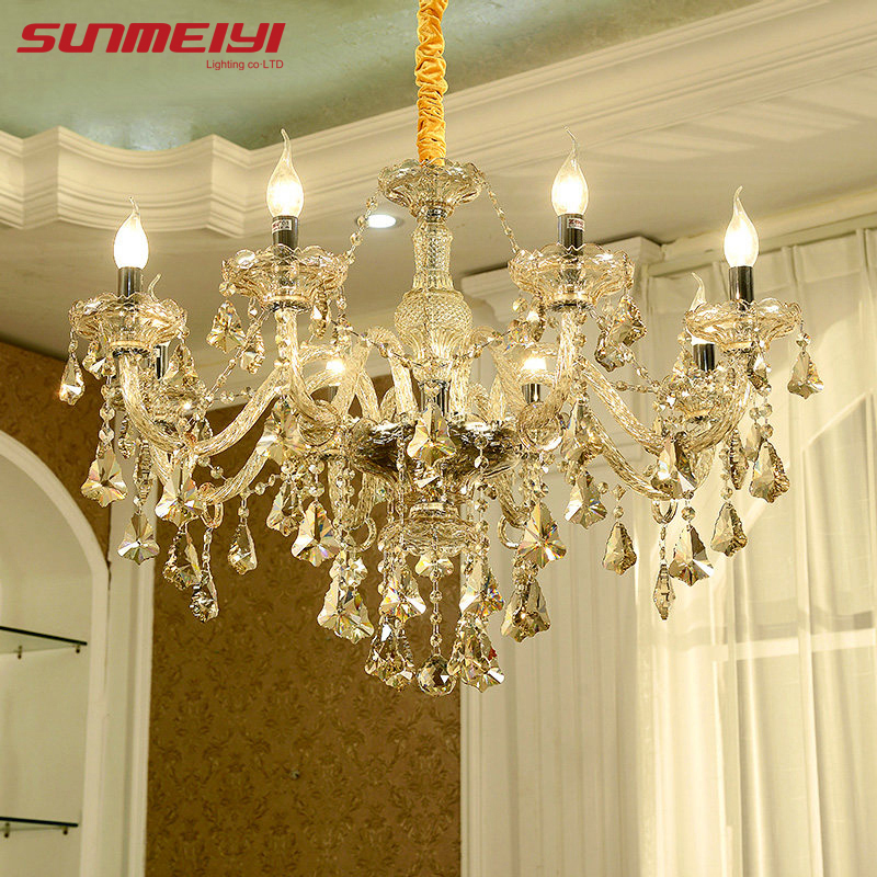 Modern Crystal Chandelier Living Room Lustres De Cristal Decoration Tiffany Pendants And