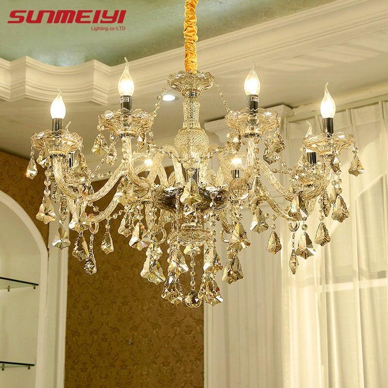Moderne Kristall Kronleuchter Wohnzimmer Lustres De Cristal Dekoration  Tiffany Anhänger Und Kronleuchter Hause Beleuchtung Indoor Lampe