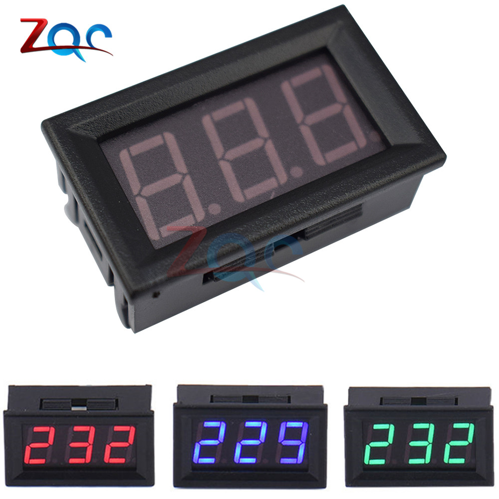 AC 30V-500V 0.56 LED Digital Voltmeter Voltage Display 2 Wires 0.56 inch Voltage Meters Electrical Instruments GREEN RED BLUE rights of sri lankan women migrant workers in middle east