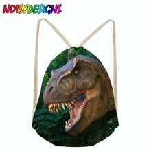 Dinosaur School Backpack for Girls Boys Backpacks Children Book Bag Drawstring bag Female Rope Orthopedic Schoolbag