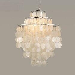 Skała morska muszle biała wisząca światło wiatr salon sypialnia bar dekoracje naturalna powłoka lampa shell źródło lampa wisząca FG262