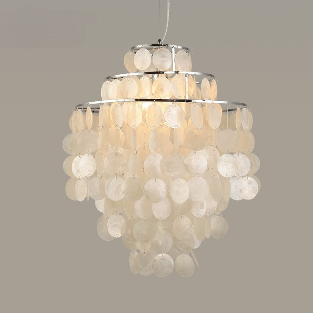 Zee rock schelpen wit hanglamp wind livingroom slaapkamer bar ...