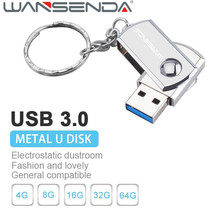 Wansenda usb 3.0 high speed metal вращения usb флэш-диск u диск 64 ГБ 32 ГБ 16 ГБ 8 ГБ 4 ГБ Pen drive flash Memory stick подарок