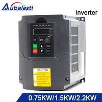 Aubalasti инвертор 0.75kw 1.5kw 2.2kw преобразователь частоты 380 В 3 фазы Выход 400 Гц Применение для ЧПУ двигателя машины