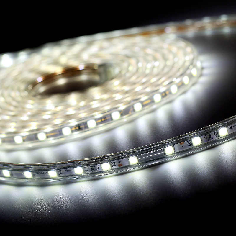 SMD 5050 ac220в Светодиодная лента гибкий свет 60 светодиодный s/m Водонепроницаемая светодиодная лента с вилкой питания 1 м/2 м/3 м/5 м/6 м/8 м/9 м/10 м /15 м/20 м