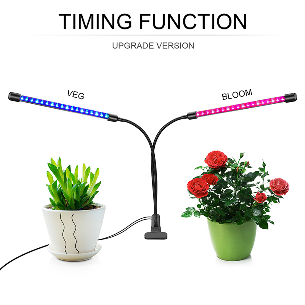 40LEDS Grow Lamp Full Spectrum Hydroponic Veg Bloom Indoor Plant Blue//Red Light