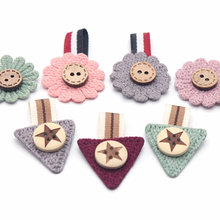 3.5*16cm 10pcs Mini Cotton Knitting Flower for Home Hat Shoes Clothing Decoration Scrapbooking DIY Handmade Crafts Accessories