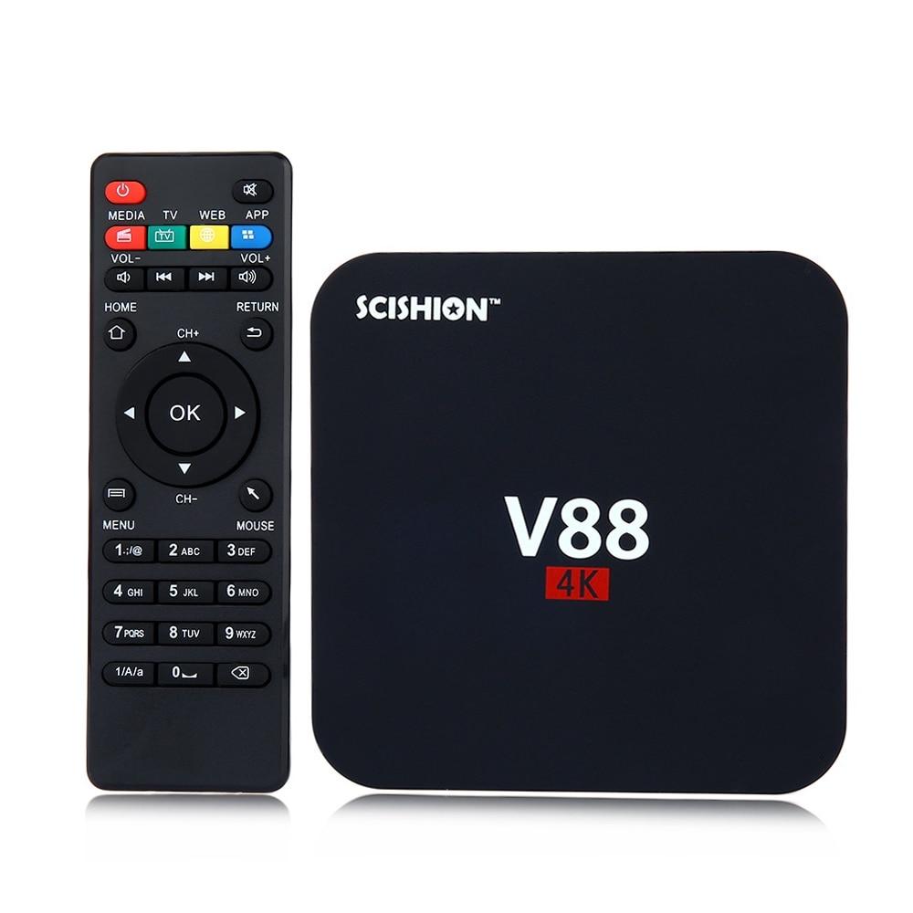 SCISHION V88 TV Box Rockchip 3229 Quad Core 4 K H.265 1 GB DDR3 RAM 8 GB mem ROM Android Media Player Set Top Box