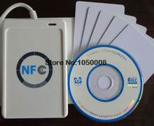 USB ACR122U NFC rfid Inteligentes sem contato IC Card/tag nfc Reader e Escritor 13.56 mhz + 5 pcs IC cartões + 1 SDK CD(China)