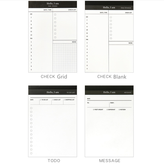 To Do List Planning Pad Dialy Checklist Schedule Message Notepad