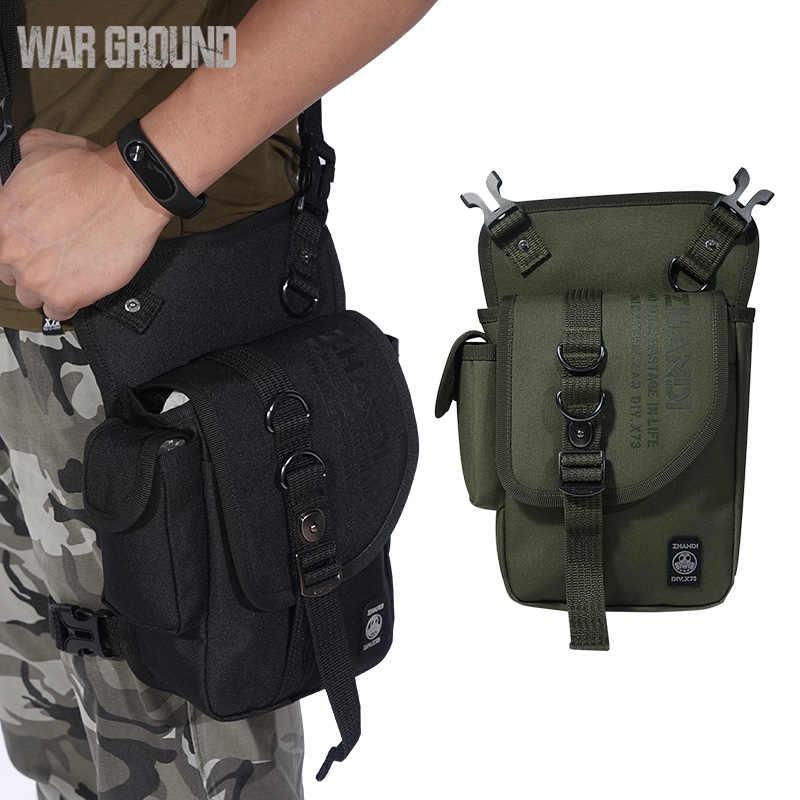 Cinto saco da cintura fã exército equitação esportes ao ar livre montanhismo saco 600D nylon multi-função à prova d' água bolsa de ombro tático bolsa de perna