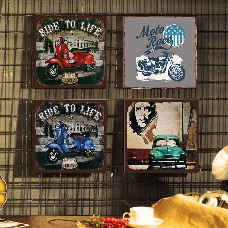 Garage Bar Man Cave Vintage Retro 30x40cm Diner Rustic Tin Sign or Decal