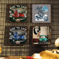 Retro Motorcycles Gold Star Metal Plate Norton Scout Tin Sign Vintage Metal Poster Garage Club Pub Bar Wall Decoration 30x30