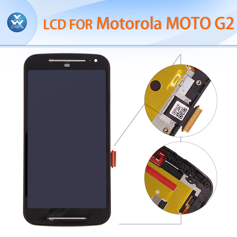 ФОТО Original LCD assembly with frame for Motorola G2 Xt1063 Xt1068 Xt1069 LCD display touch screen digitizer glass black repair tool