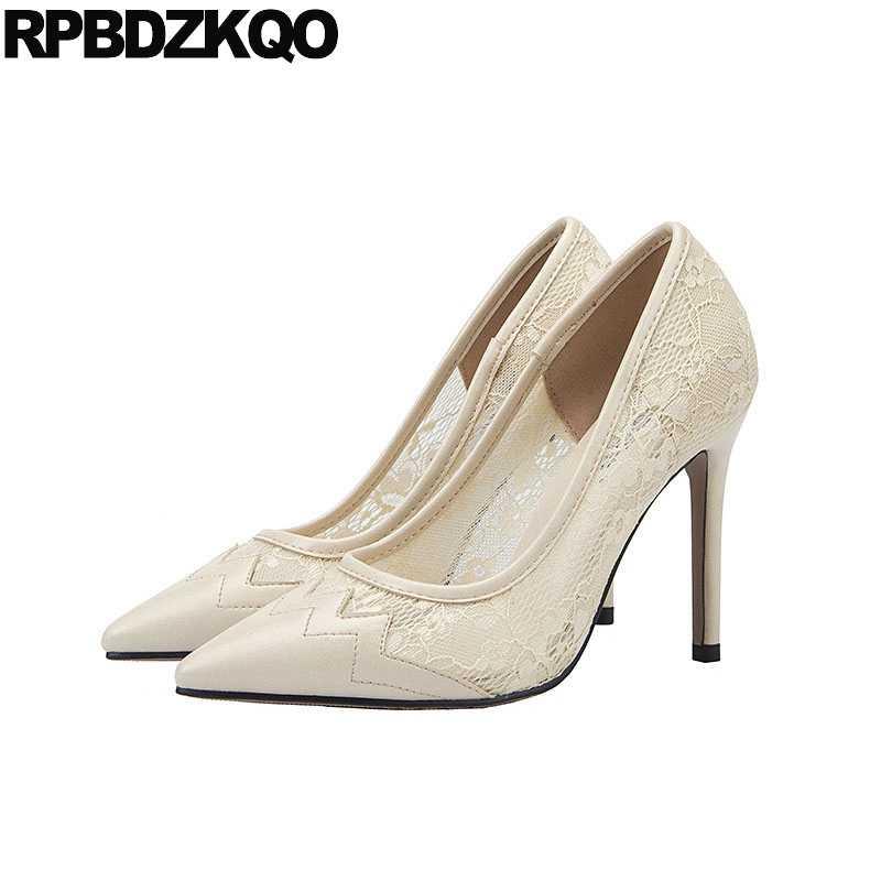 Ivory Wedding Shoes 3 Inch Heels 10 42