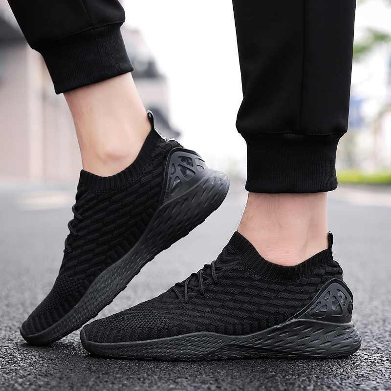 706d82a22ff1 ... Мужские дышащие Сникеры Мужская обувь для взрослых красный черный серый  высокое качество Удобная нескользящая Мягкая сетка ...