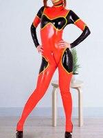 New 100% Latex Rubber Women Sports Racing Suit Bodysuit Catsuit Size XXS XXL