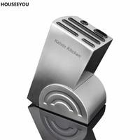 Universal Stepped Knife Holder Block Stainless Steel Kitchen Knife Block Home Knives Organiser Storage Set Kitchen Accessories
