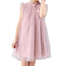 Summer Girls Dress Beautiful Fairy Tale Princess Cotton Lace Tutu Casual Clothes Dresses for Kid Girl Party