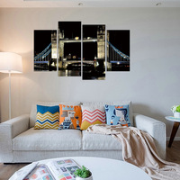FOUR PC NO FRAME London Bridge And London Tower Oil Painting Printed Oil Painting On Canvas