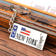 Vicney NEW YORK Keychain US Flag And Statue of Liberty Key C