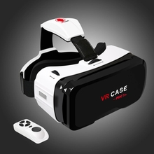 VR CASE RK-6TH Virtual Reality 3D Glasses with Bluetooth Remote Control for  4.7 inch – 6 inch Android & iOS Smartphone.