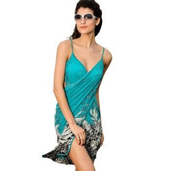 Saida de praia women summer Beach Dress Beach Cover Up Bikini Wrap Negril floral Print crossed beachwear Sarong pareo FJ41714 h2 6