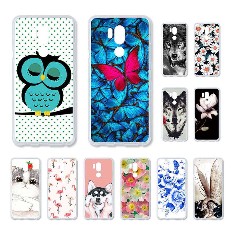 Cute Case For LG Q Stylus G7 K4 2017 K8 2018 Aristo 2 X Venture V30 Q6 Q6a Case Silicone Soft TPU Painted Cases Cover