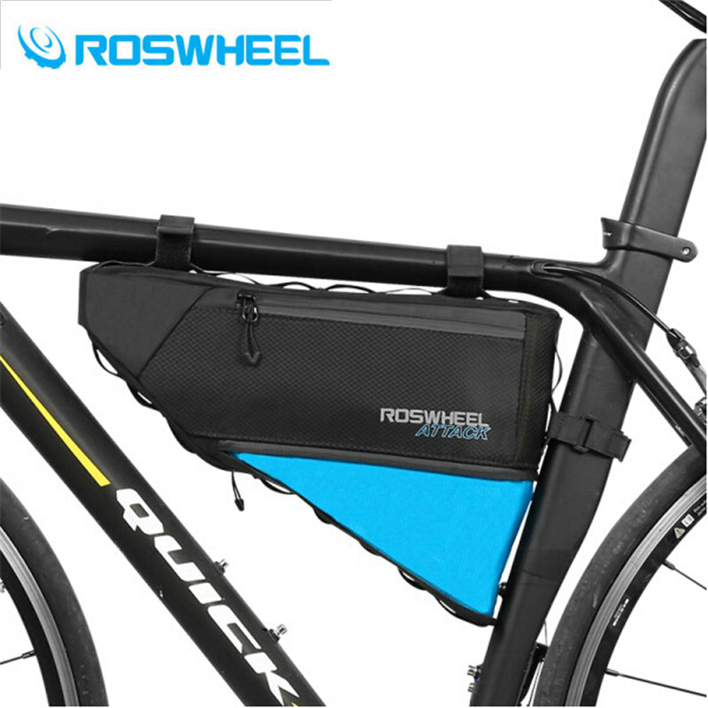 ROSWHEEL 2019 100% Waterproof 4 L Bicycle Bag Bike Accessories Storage Front Frame Tube Triangle Bag Cycling Firmly Install
