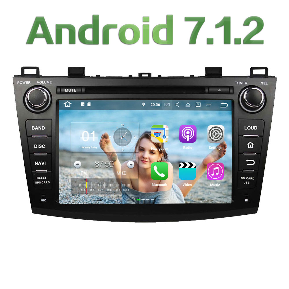 Quad Core 2GB RAM 16GB ROM 8 Android 7 1 2 Car font b Multimedia b