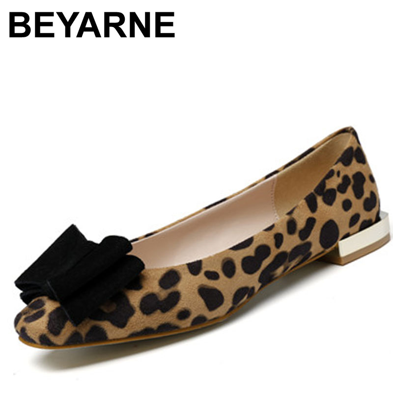 BEYARNE Hot sale! New Fashion Spring Women Flats Shoes Ladies Bow Pointed Toe Slip-On Flat Women's Shoes free shipping size34-40 2017 new fashion spring ladies pointed toe shoes woman flats crystal diamond silver wedding shoes for bridal plus size hot sale