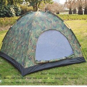 Image 3 - 1 4 אדם נייד חיצוני קמפינג הסוואה אוהל חיצוני קמפינג בילוי כפול זוג קמפינג אוהל אולטרה סגול הוכחה אוהל