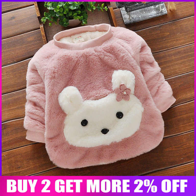 bibicola Winter Kids Baby girls Sweater Tops Casual Warm Pullover Blouse children girls  Soft Turtleneck Coat outwear sweaters