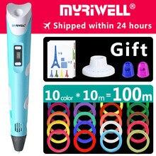 Myriwell 3d kalem 3d kalemler, 1.75mm ABS/PLA Filament, 3d modeli, 3d yazıcı pen 3d sihirli kalem, Çocuklar doğum günü hediyesi Noel hediyesi