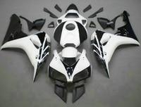 H Aftermarket body parts for Honda white black fairings CBR1000RR 06 07 motorcycle fairing kit CBR 1000RR 2006 2007