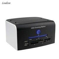 Leadzoe USB 2 0 Multi Function 2 5 3 5 SATA IDE HDD Docking Station Enclosure