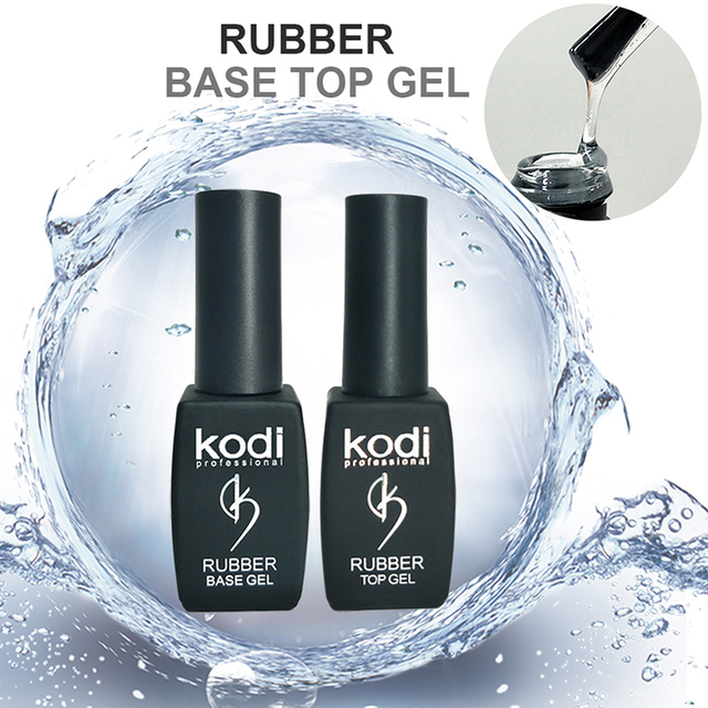 Kodi gel nail Esmaltes Permanent de polygel ongle 8ml Rubber Base ...