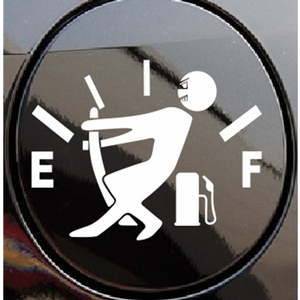 Image 3 - 12.7*9.2CM Decal Fuel Gage Empty Stickers Funny Vinyl JDM Car Stickers And Decals Car Styling Black/Sliver #B1361