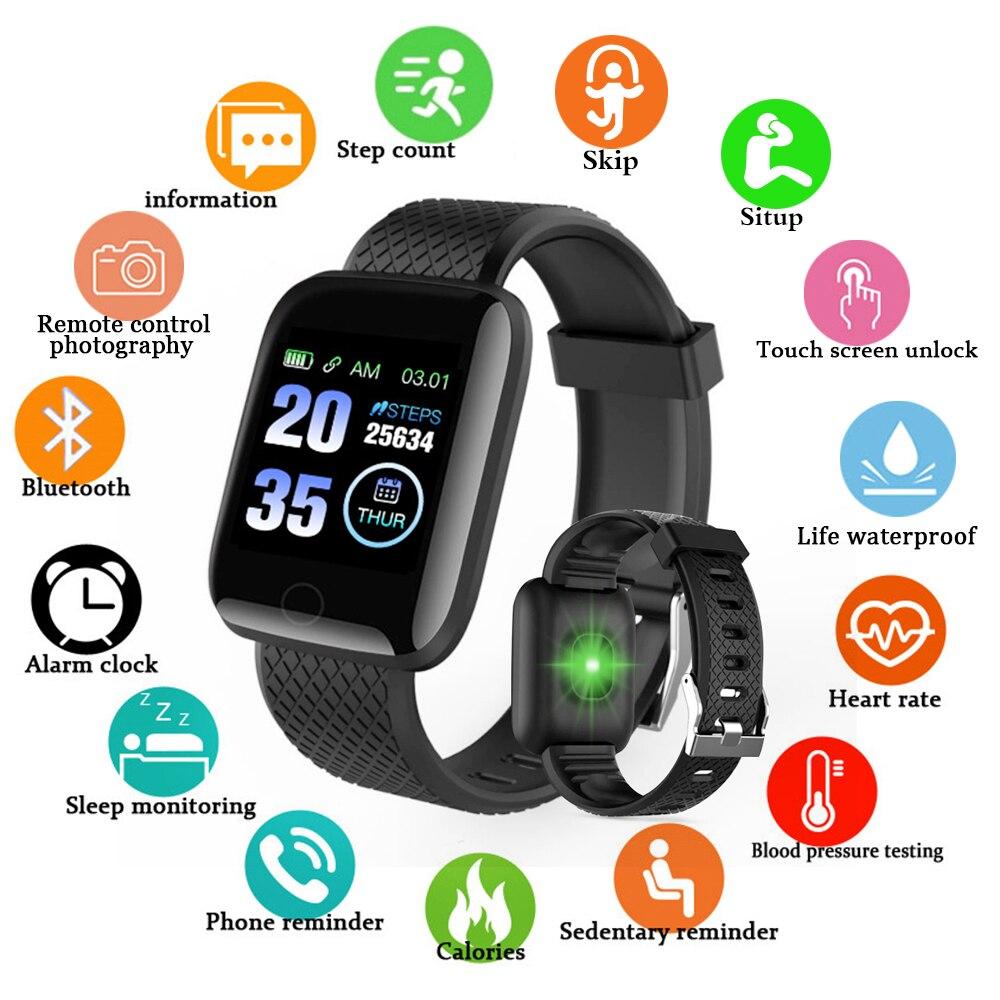 Pulseira de Fitness Rastreador inteligente D13 Tela Inteligente Faixa de Freqüência Cardíaca de Medição da Pressão Arterial Inteligente Pulseiras Smartband