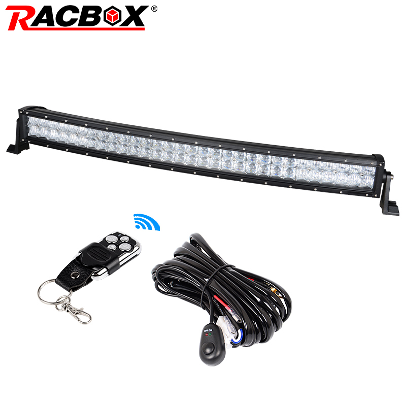 RACBOX 5D 32 inch 180W Curved LED Work Light Bar Flood Spot Combo 4WD Truck Tractor Boat SUV 30 32 Off Road LED Bar Light Lamp brand new universal 40 w 6 inch 12 v led car work light daytime running lights combo light off road 4 x 4 truck light