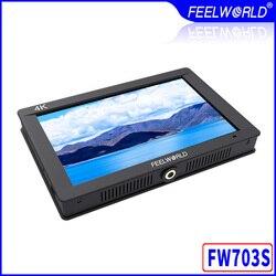 Feelworld FW703S 3G SDI 4K HDMI DSLR monitor LCD 7 cali IPS Full HD 1920x1200 przenośne na kamery monitor zewnętrzny dla Rig kamery