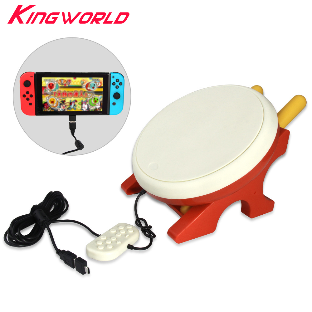 switch drum joy-controller drumstick kinect Taiko drum +2PCS Hand Grip Holder Handle for Motion Game Taiko Play alloyseed motion sensing game controller for taiko drum game drumstick kinect handle set hand grip gamepad for nintend switch ns